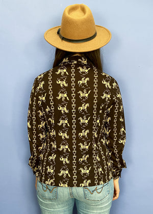 Vintage Kenzo 80's Embroidered Khaki Jacket