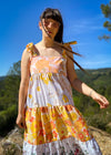 Vintage Stripe Knit Short Sleeved Jumper Top