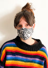 DESERT FOX Geo Print Zero Waste Reversible Reusable Face Mask