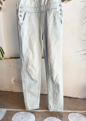 VINTAGE Blue Stripe Flannel Oversized Shirt - M/L
