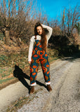Vintage 90's Sunset Hand Knit Cropped Jumper