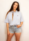 VINTAGE Marlboro Classics Baby Blue Embroidered Polo Shirt - M
