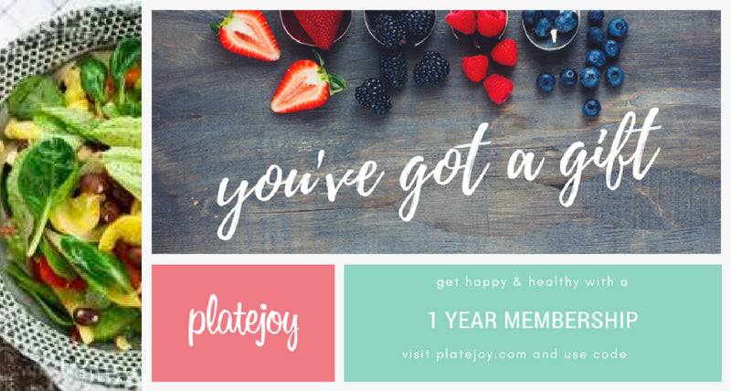 Platejoy 1-Year Membership