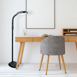 graphite led task floor lamp