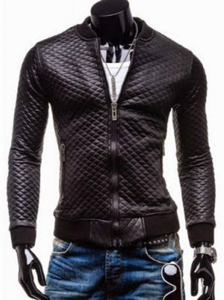 Biker Jacket - Men Real Lambskin Motorcycle Leather Biker Jacket KM479 - Koza Leathers