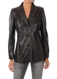 Koza Leathers Women's Real Lambskin Leather Blazer BW013