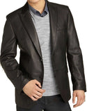 Leather Blazer - Men Real Sheepskin Leather Blazer KB005 - Koza Leathers