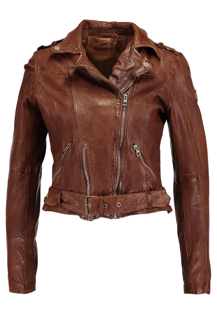 Biker / Motorcycle Jacket - Women Real Lambskin Leather Biker Jacket KW286 - Koza Leathers