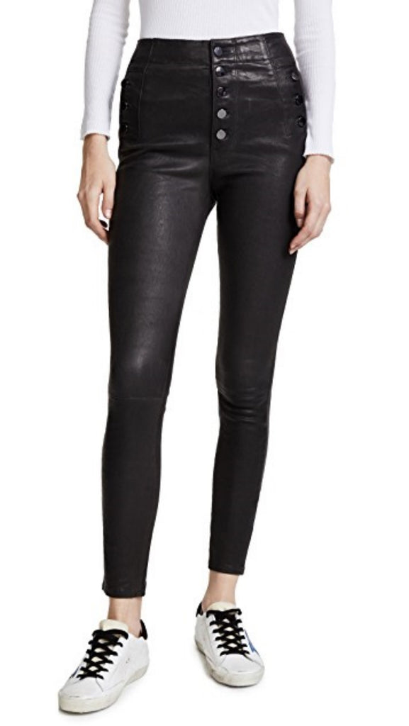 Koza Leathers Women's Real Lambskin Leather Capri Pant WP046