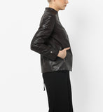 Women Real Lambskin Leather Biker Jacket KW563