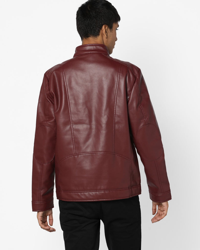 Biker Jacket - Men Real Lambskin Motorcycle Leather Biker Jacket KM607 - Koza Leathers