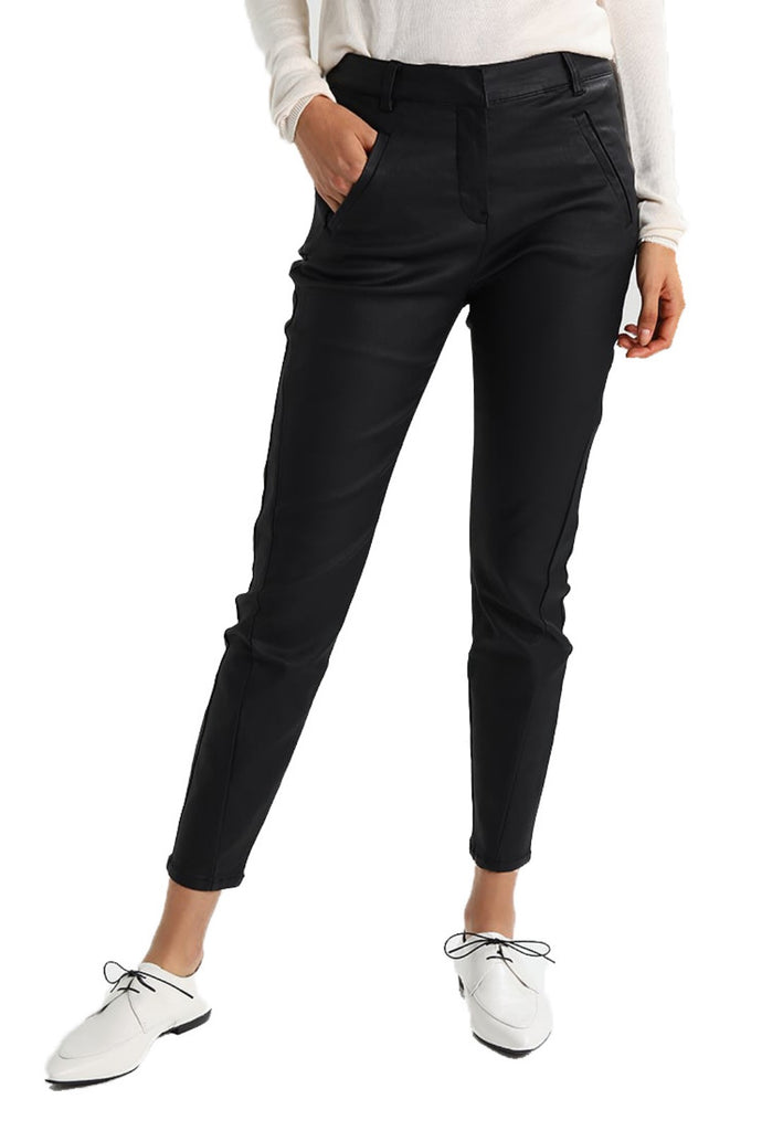 Koza Leathers Women's Real Lambskin Leather Capri Pant WP048