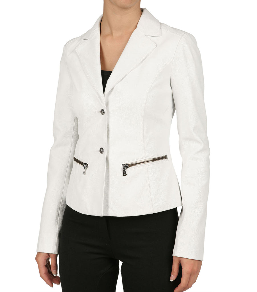 Koza Leathers Women's Real Lambskin Leather Blazer BW018