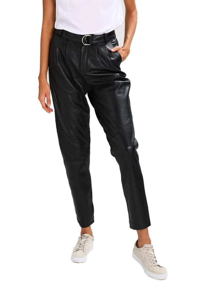 Koza Leathers Women's Real Lambskin Leather Capri Pant WP049