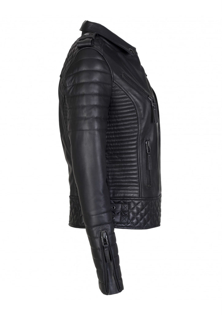 Biker / Motorcycle Jacket - Women Real Lambskin Leather Biker Jacket KW085 - Koza Leathers