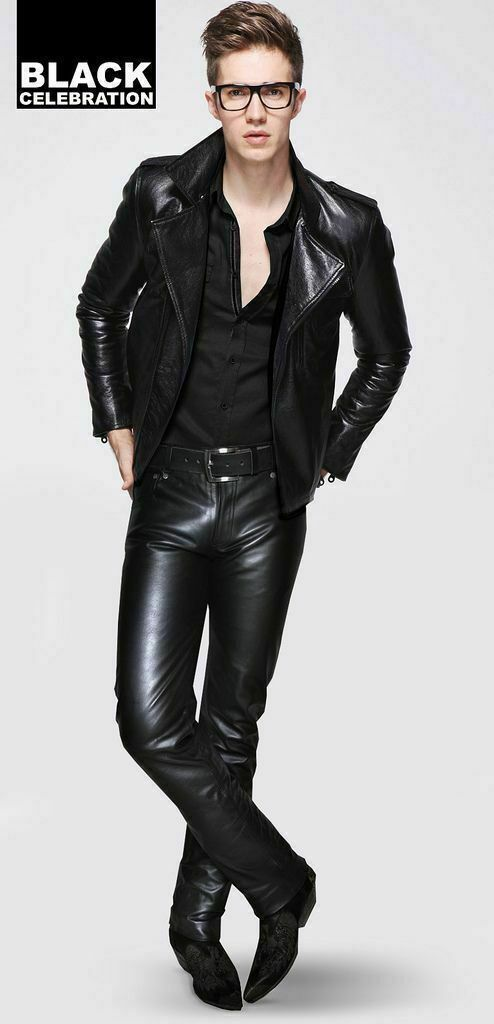 Koza Leathers Men's Real Lambskin Leather Pant MP025