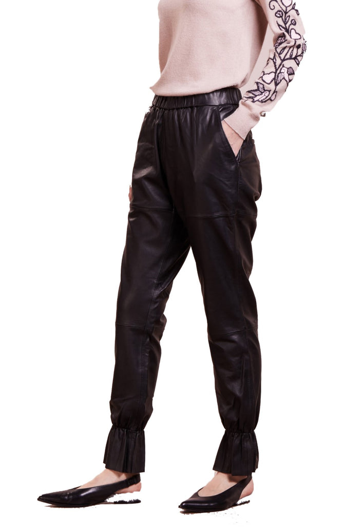 Koza Leathers Women's Real Lambskin Leather Pant WP104