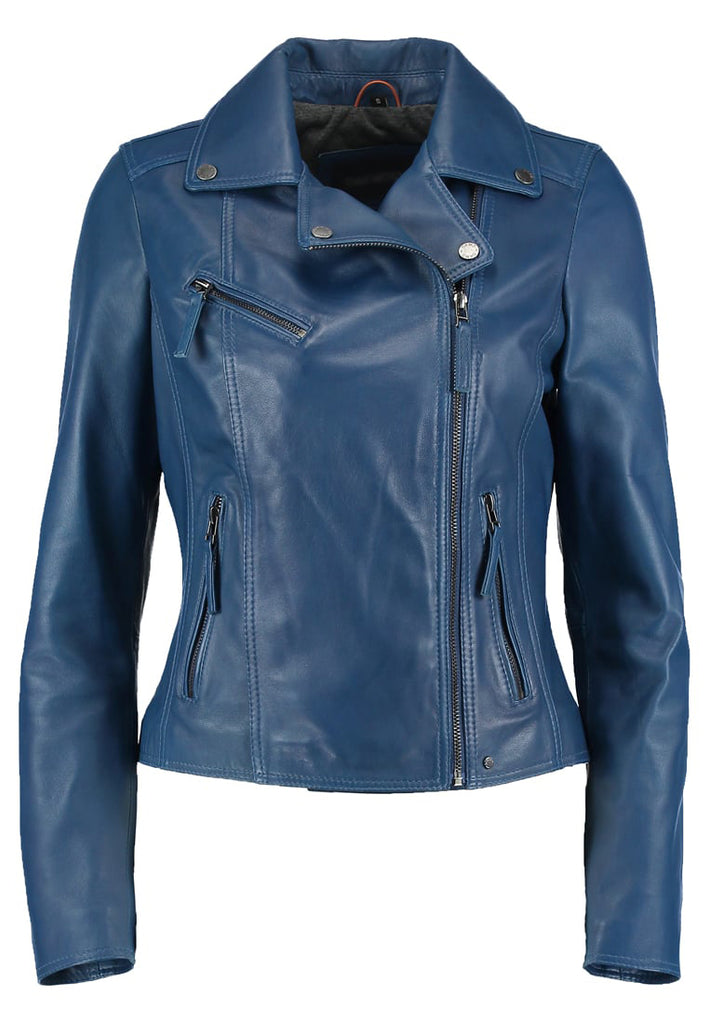 Biker / Motorcycle Jacket - Women Real Lambskin Leather Biker Jacket KW297 - Koza Leathers