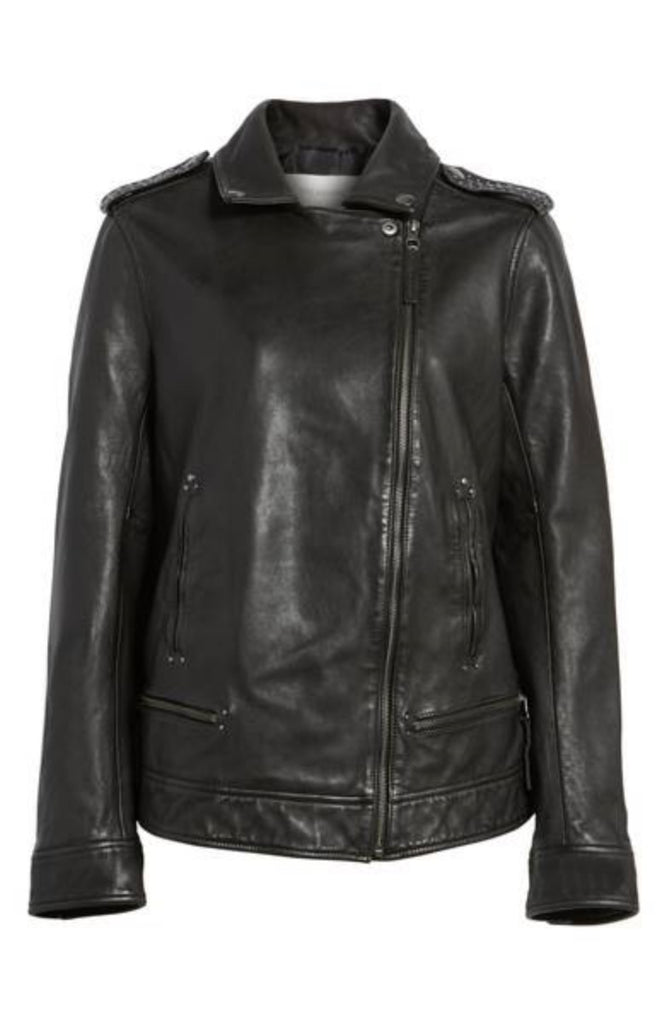 Biker / Motorcycle Jacket - Women Real Lambskin Leather Biker Jacket KW360 - Koza Leathers