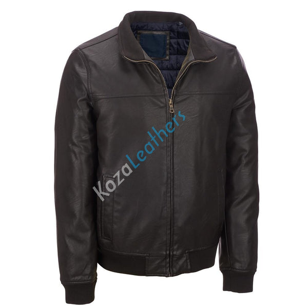 Biker Jacket - Men Real Lambskin Motorcycle Leather Biker Jacket KM223 - Koza Leathers