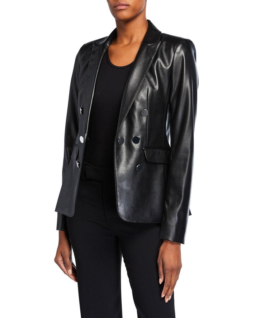 Koza Leathers Women's Real Lambskin Leather Blazer BW091