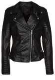 Biker / Motorcycle Jacket - Women Real Lambskin Leather Biker Jacket KW197 - Koza Leathers