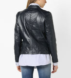 Biker / Motorcycle Jacket - Women Real Lambskin Leather Biker Jacket KW565 - Koza Leathers
