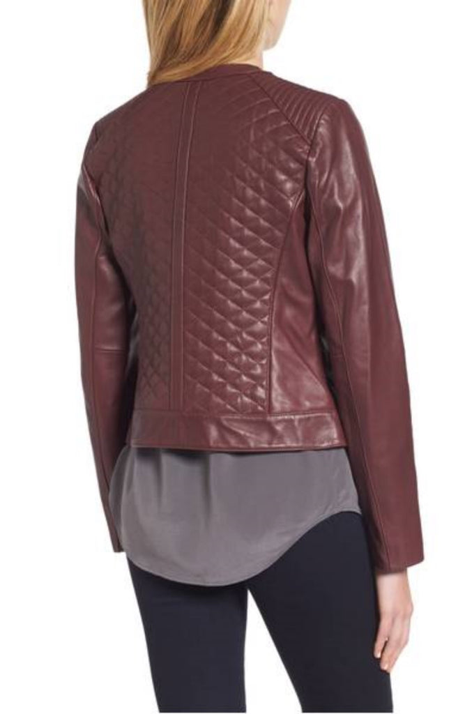 Biker / Motorcycle Jacket - Women Real Lambskin Leather Biker Jacket KW370 - Koza Leathers