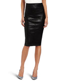 Knee Length Skirt - Women Real Lambskin Leather Slim Fit Skirt WS053 - Koza Leathers
