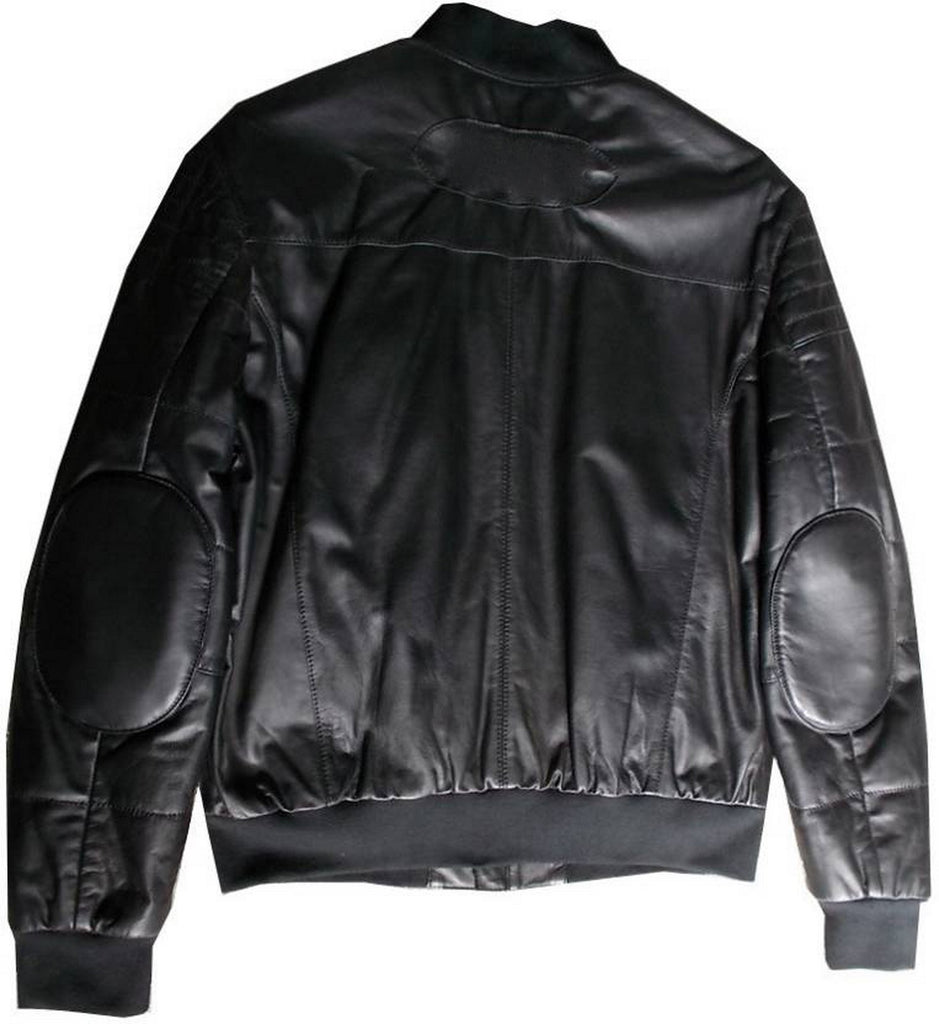 Biker Jacket - Men Real Lambskin Motorcycle Leather Biker Jacket KM390 - Koza Leathers