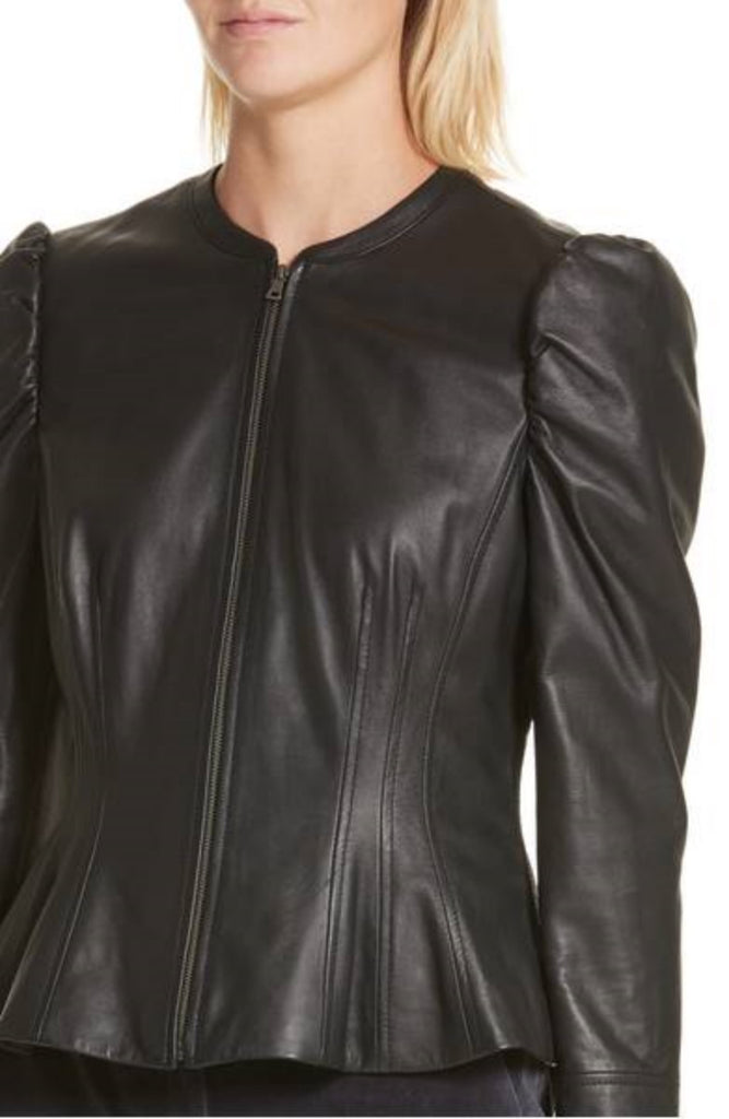 Biker / Motorcycle Jacket - Women Real Lambskin Leather Biker Jacket KW376 - Koza Leathers