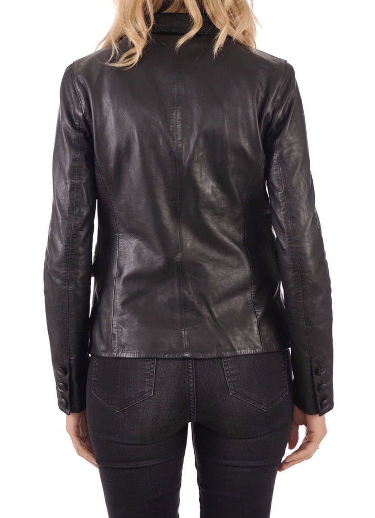 Koza Leathers Women's Real Lambskin Leather Blazer BW032