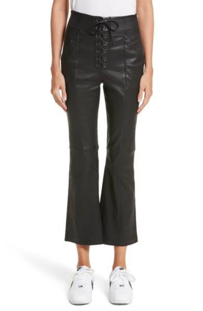 Koza Leathers Women's Real Lambskin Leather Capri Pant WP015