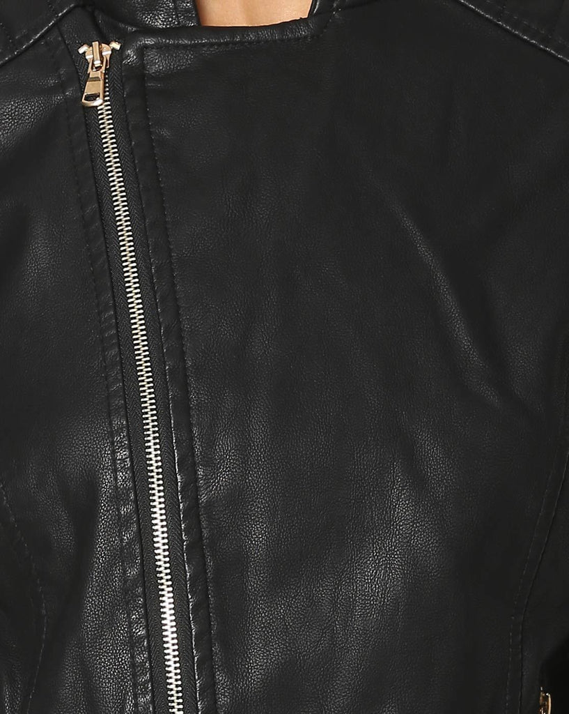 Biker / Motorcycle Jacket - Women Real Lambskin Leather Biker Jacket KW568 - Koza Leathers