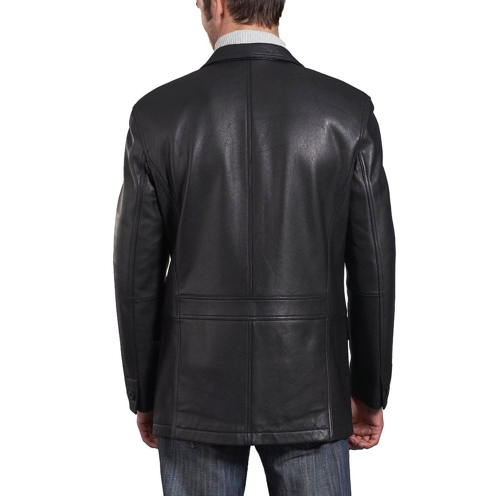 Leather Blazer - Men Real Sheepskin Leather Blazer KB015 - Koza Leathers