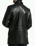 Leather Blazer - Men Real Sheepskin Leather Blazer KB016 - Koza Leathers