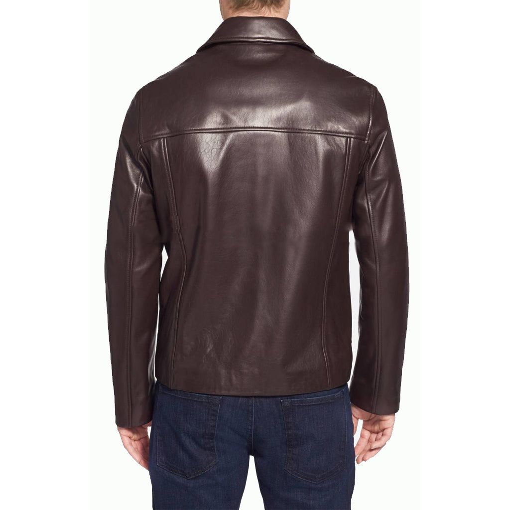 Biker Jacket - Men Real Lambskin Motorcycle Leather Biker Jacket KM322 - Koza Leathers