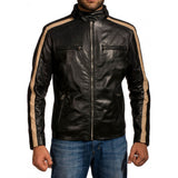 Biker Jacket - Men Real Lambskin Motorcycle Leather Biker Jacket KM323 - Koza Leathers