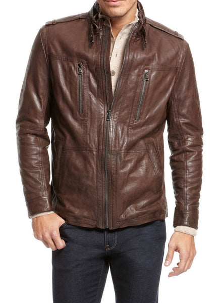Biker Jacket - Men Real Lambskin Leather Jacket KM018 - Koza Leathers