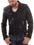 Biker Jacket - Men Real Lambskin Leather Jacket KM041 - Koza Leathers