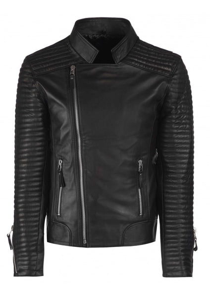 Biker Jacket - Men Real Lambskin Leather Jacket KM063 - Koza Leathers