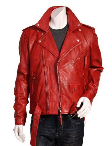 Biker Jacket - Men Real Lambskin Leather Jacket KM032 - Koza Leathers