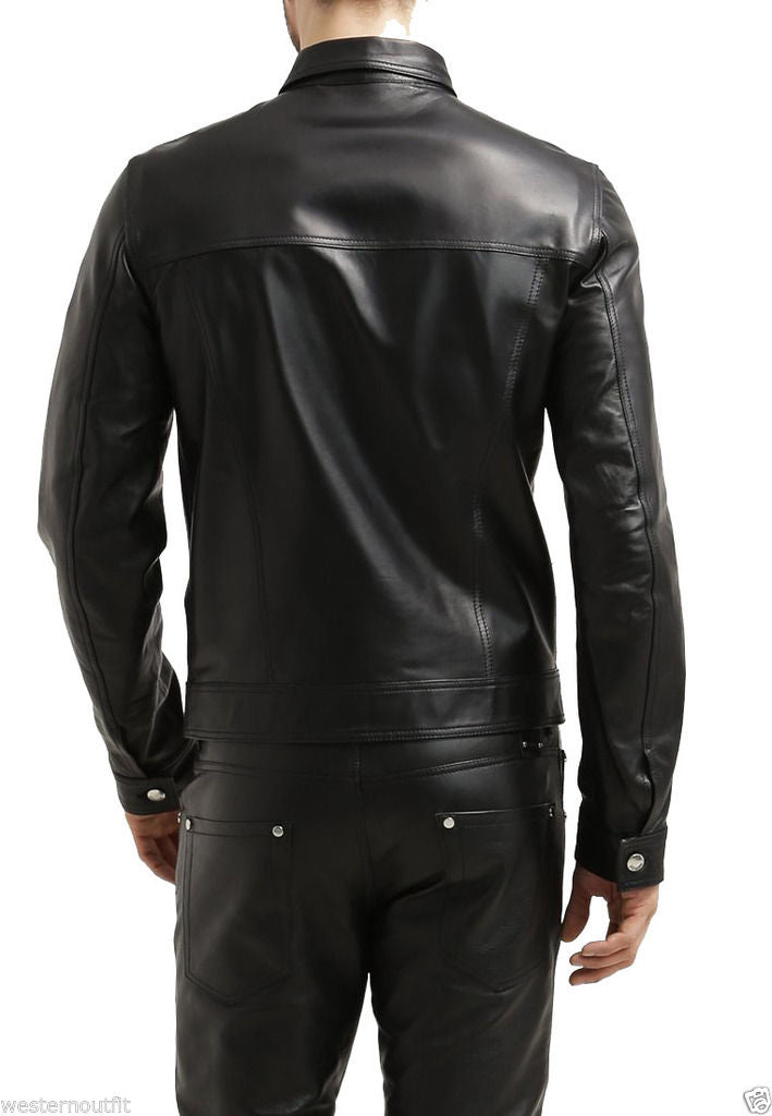 Biker Jacket - Men Real Lambskin Leather Jacket KM038 - Koza Leathers