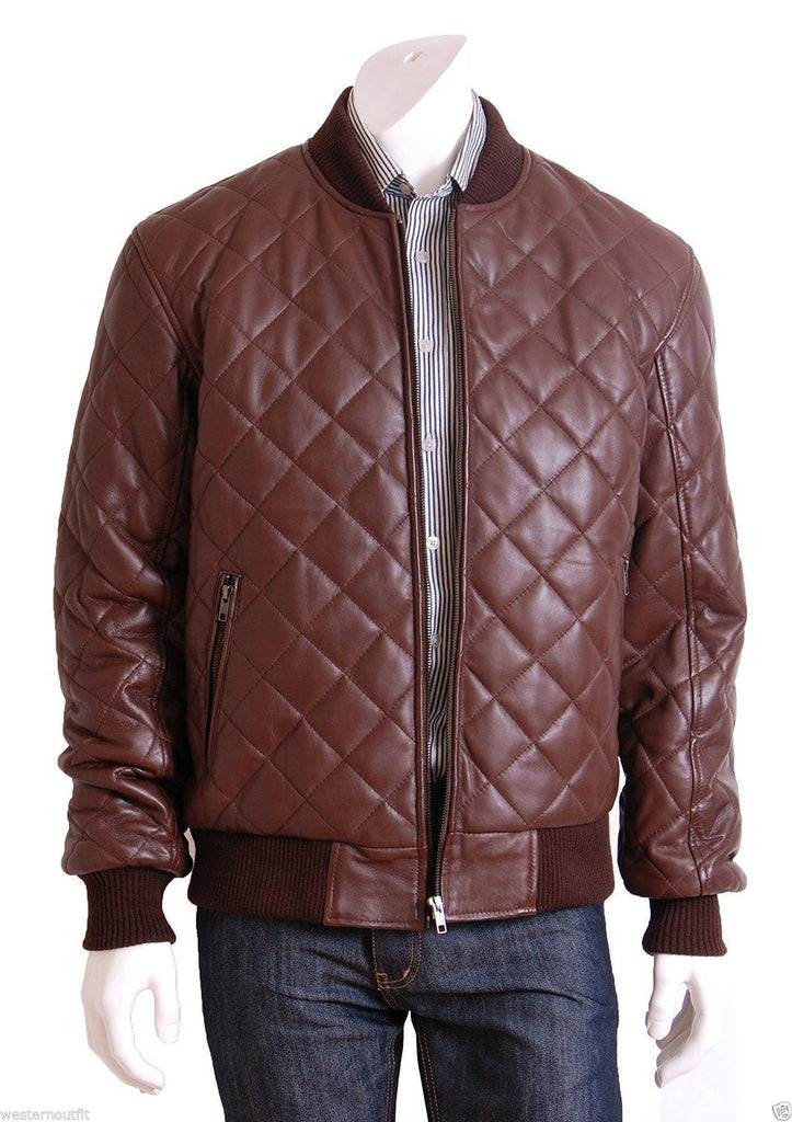 Biker Jacket - Men Real Lambskin Leather Jacket KM072 - Koza Leathers