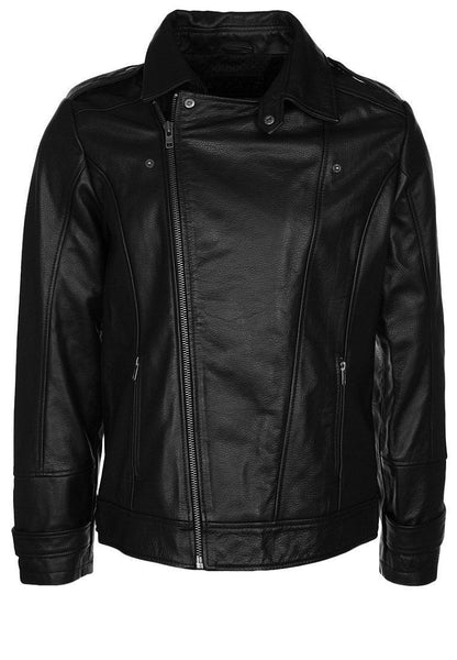 Biker Jacket - Men Real Lambskin Leather Jacket KM082 - Koza Leathers