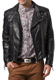 Biker Jacket - Men Real Lambskin Leather Jacket KM083 - Koza Leathers