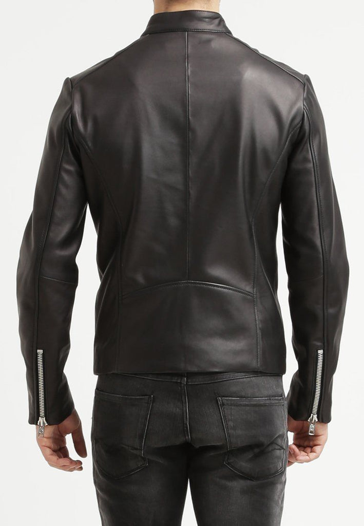 Biker Jacket - Men Real Lambskin Leather Jacket KM089 - Koza Leathers