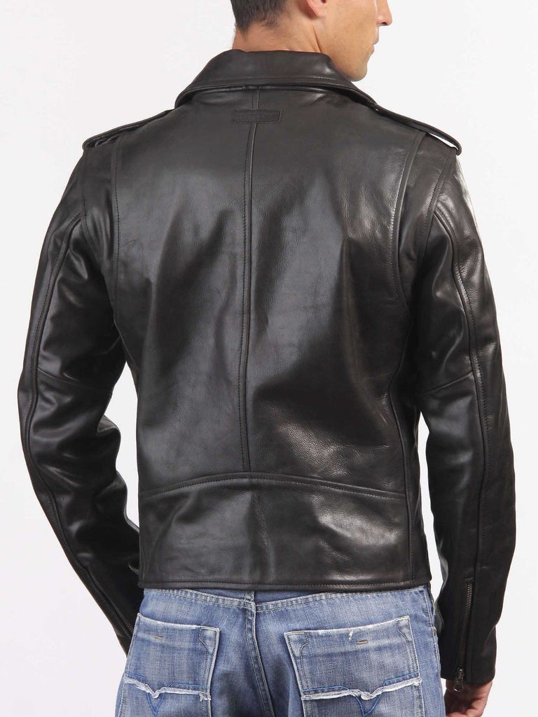Biker Jacket - Men Real Lambskin Leather Jacket KM033 - Koza Leathers