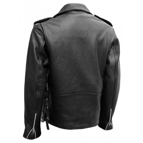 Biker Jacket - Men Real Lambskin Leather Jacket KM053 - Koza Leathers