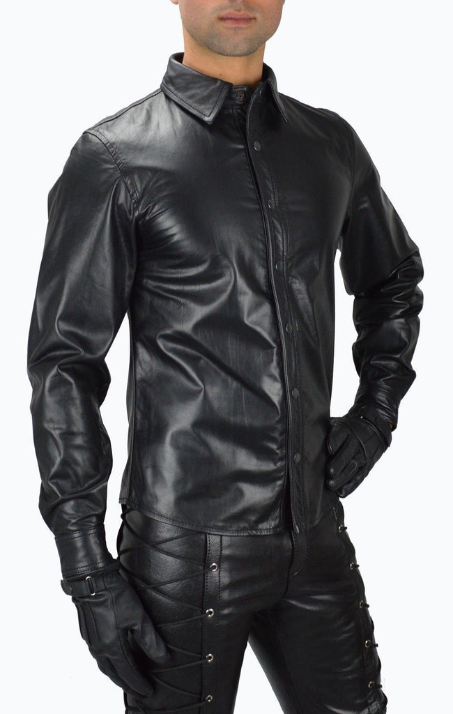 Biker Jacket - Men Real Lambskin Leather Jacket KM107 - Koza Leathers